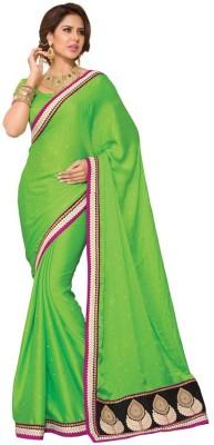 Foram Plain Fashion Poly Silk Sari