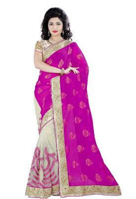 Leela Embriodered Fashion Net Sari