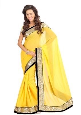 Stylo Designer Solid Fashion Georgette Sari