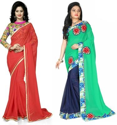 Preet Creations Printed Fashion Chiffon Sari
