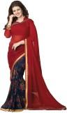 Darsh Floral Print Fashion Georgette Sar...