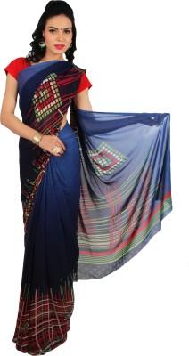 Rama Geometric Print Fashion Georgette Sari