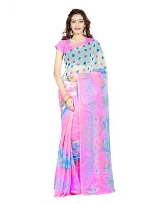 Ambaji Printed Daily Wear Chiffon Sari