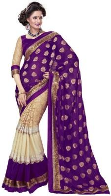 Shreepati Self Design Bollywood Viscose Sari