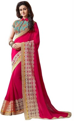 AahnaFashion Embriodered Bollywood Georgette Sari