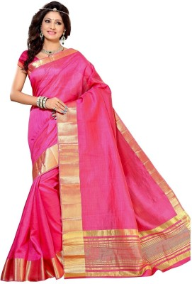 Right Shape Solid Mysore Handloom Tussar Silk Sari