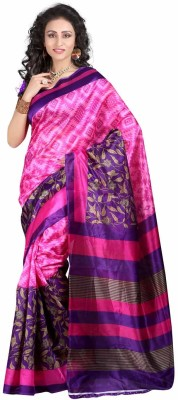 HRK Enterprise Printed Fashion Poly Silk Sari