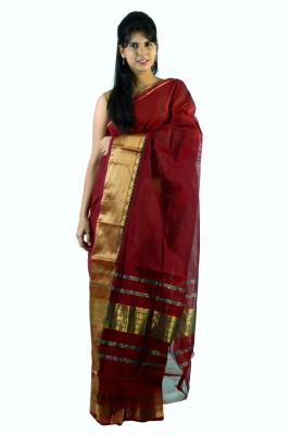 Helloloom Self Design Venkatagiri Handloom Cotton Sari