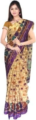 SRK GROUPS Checkered Fashion Cotton Sari