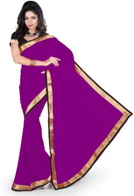 Abhinal Fashion Plain Fashion Georgette Sari
