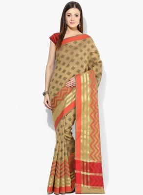 Avishi Self Design Banarasi Handloom Silk Cotton Blend Sari
