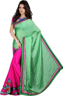 Aryansh Designers Self Design Fashion Georgette Sari