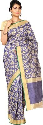 Sevensquare Floral Print Banarasi Net Sari