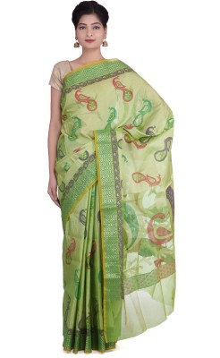 Indian Artizans Woven Banarasi Silk Cotton Blend Sari