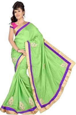 Krishna Prints Embriodered Daily Wear Jute Sari