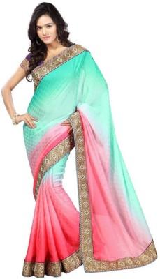 Kintu Designs Pvt. Ltd. Embriodered Fashion Dupion Silk Sari