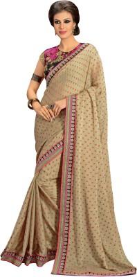She Fashion Embriodered Fashion Jacquard, Chiffon Sari