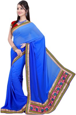Vani Creations Embriodered Bollywood Viscose Sari