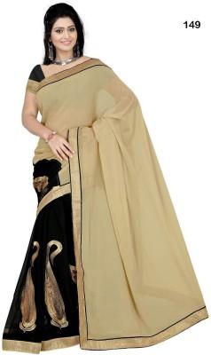 Anerra Self Design Bollywood Handloom Satin, Georgette Sari
