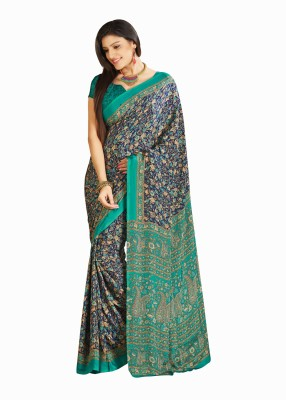 JK Creation Floral Print Fashion Crepe Sari