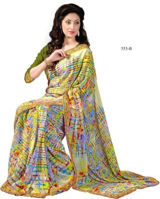 Magneitta Floral Print Fashion Georgette Sari