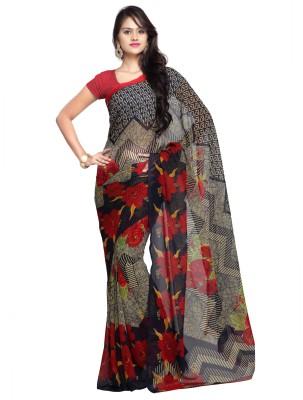 Ligalz Printed Daily Wear Handloom Georgette Sari