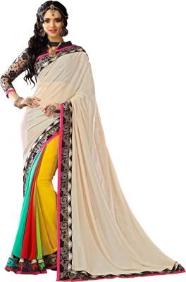 Fashiondeal Self Design Fashion Georgette Sari