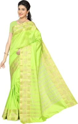 Rani Saahiba Woven Fashion Tussar Silk Sari(Light Green)
