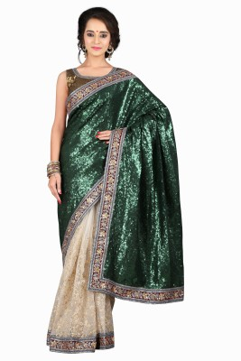 Arth Enterprise Embriodered Fashion Georgette Sari