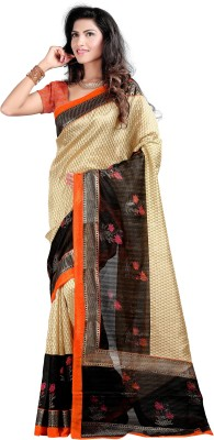 K3 Printed Bhagalpuri Silk Sari