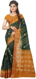 TryDeals Hand Painted Bandhej Cotton Sar...