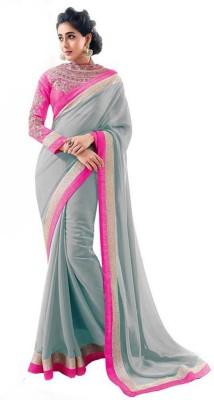 Dealtz Fashion Self Design Bollywood Georgette Sari