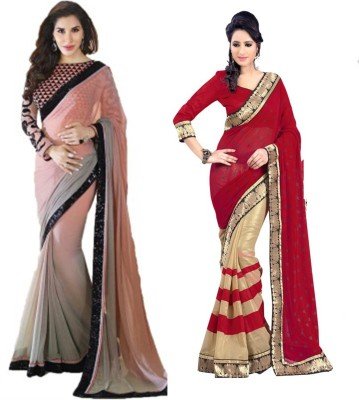 Bikaw Embriodered Bollywood Chiffon Sari