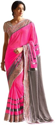 Laxmipati Self Design Fashion Pure Chiffon Sari