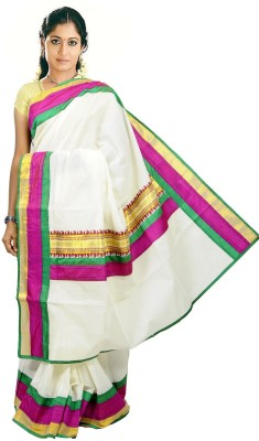 CREATIVEWEAVES Self Design Balarampuram Cotton Sari