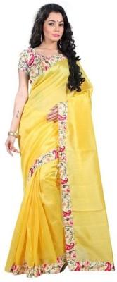 Manish chirania Self Design Banarasi Polycotton Sari