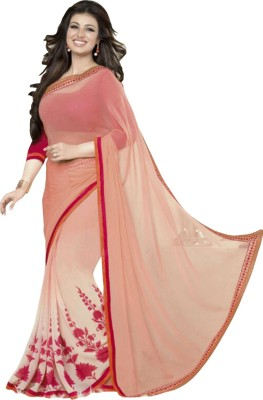 zhenith creation Printed Bollywood Georgette Sari