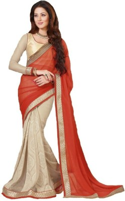 Reet Creation Embriodered Fashion Georgette, Net Sari