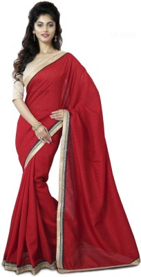 Mutiar Plain Fashion Chiffon Sari