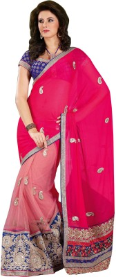 Panash Self Design Fashion Georgette Sari