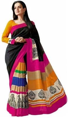 Shop Plaza Printed Bhagalpuri Cotton Sari