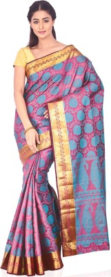 Ankisha Solid Fashion Art Silk Sari