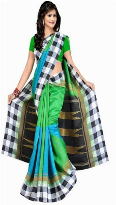 Mahalaxmi Fashion Printed Daily Wear Silk Cotton Blend Sari