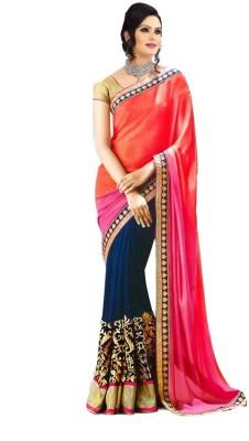 Marvel Solid Fashion Georgette Sari
