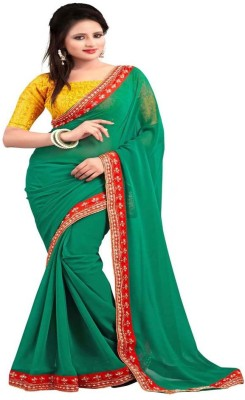 Ninety-Nine Shoppers Embriodered Fashion Georgette Sari
