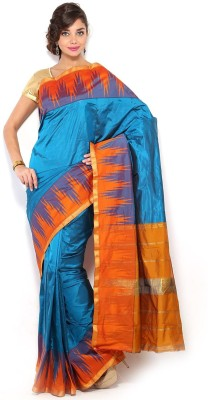 SAN Printed Shalu Silk Sari