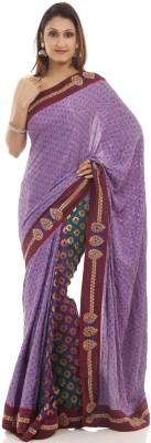 Chhabra 555 Printed Bandhej Satin Sari
