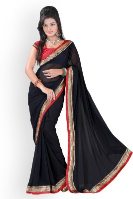 Temptingg Fashions Embellished Fashion Chiffon Sari