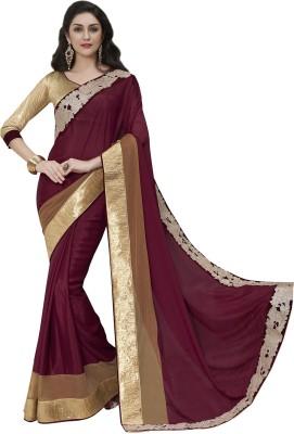 MelluhaFashion Embriodered Fashion Chiffon Sari