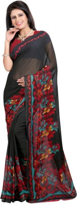 Bansy Fashion Printed Daily Wear Georgette Sari